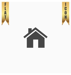 Small house flat icon vector