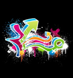 graffiti sketch vector image