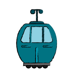 cable car transport icon vector image