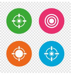 Crosshair icons target aim signs symbols vector