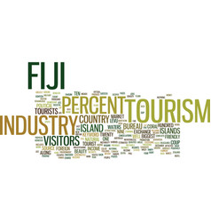 Fiji tourism industry text background word cloud vector
