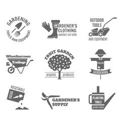 Garden Label Set vector image