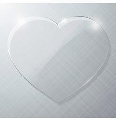 Glass heart vector