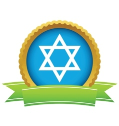 Gold judaism logo vector