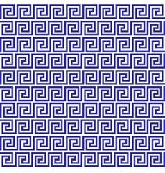 Blue greek seamless pattern vector image