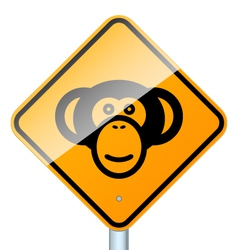 monkey on road vector image