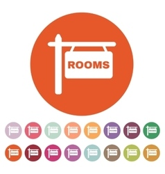 The rooms icon hotel symbol flat vector