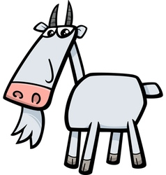 Goat farm animal cartoon vector