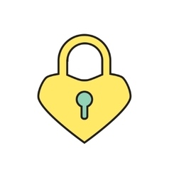 Lock heart icon eps10 vector