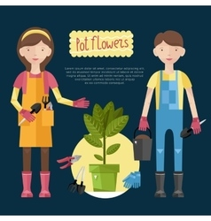 Beautiful house plants vector