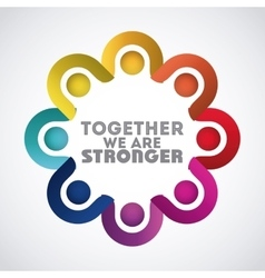 Together concept design vector
