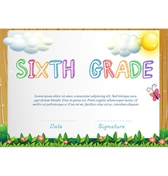 Certification for six grade vector