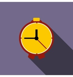 Table clock icon flat style vector
