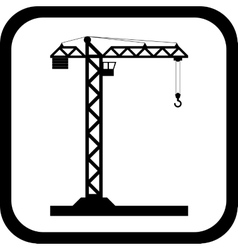 Tower crane - icon isolated vector