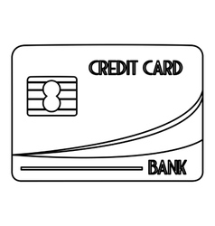Credit card with letters vector