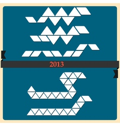 Stylized snake symbol 2013 new year vector