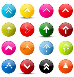 Arrows Set Colorful Arrows in Circles Isolated on vector image vector image