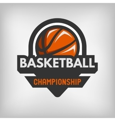 Basketball sports logo vector image