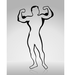 Body builder2 vector