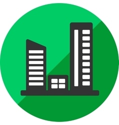 Building or urban icon of set flat vector
