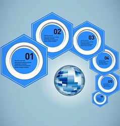 Business concept globe vector image vector image