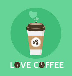 coffee cup love coffee signe vector image vector image