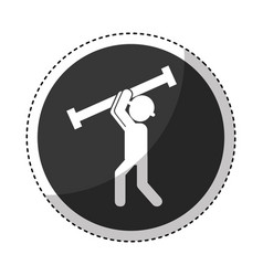 construction worker with metal column avatar vector image