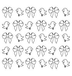 Decorative ribbon bow vector