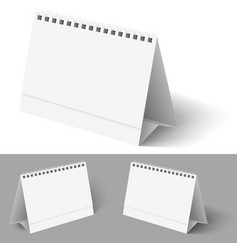 Desk calendar on white for design vector