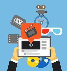 Digital media industry flat design concept vector