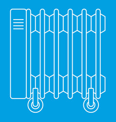 Electric oil heater icon outline style vector