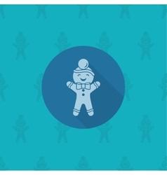 Gingerbread Man Monochrome color vector image