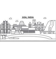 Goa india architecture line skyline vector