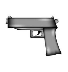 gun sign icon vector image
