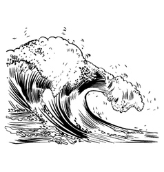 handdrawn handpicked waves vector image