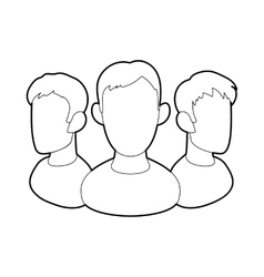 Office team icon in outline style vector image vector image