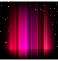 Purple aurora borealis background eps 8 vector