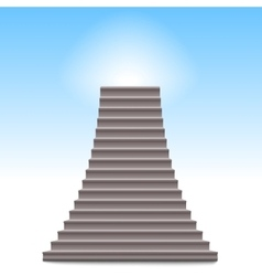 Realistic stone ladder vector
