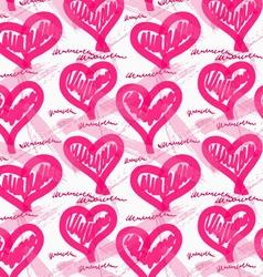 Rough brush pink heats vector image