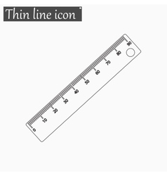 Ruler icon Style thin line vector image vector image