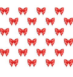 Seamless pattern of red bows vector image vector image
