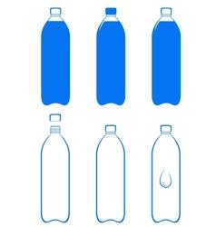 Set of water bottle vector
