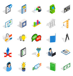 shared icons set isometric style vector image vector image