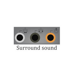 surround sound vector image vector image