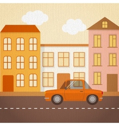 Urban landscape in retro style vector image