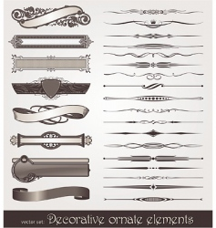 vector ornate design elements vector image vector image