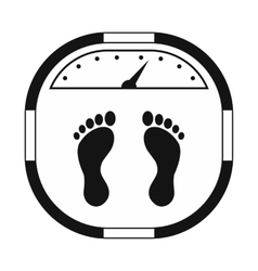 Weight scale black simple icon vector image vector image