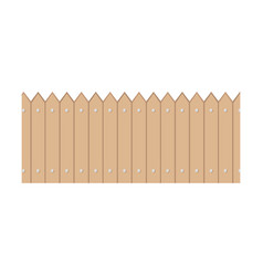 Wooden fence garden vector