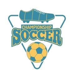 Soccer sign logo badge vector