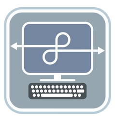 Network - icon vector image